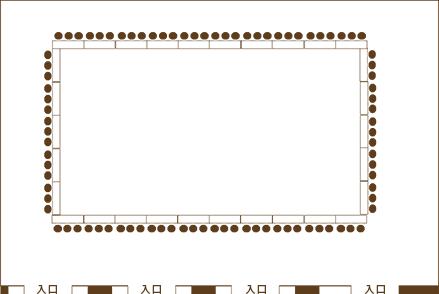 Layout B| 富士の間 3/4使用 / 口の字形式 |