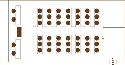 Layout A| 桂の間 スクール形式 |