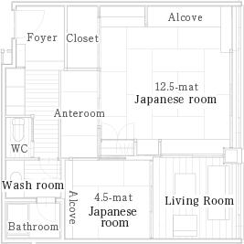 雅致顶楼和室-雅之间(吸烟房)