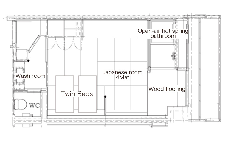 「粋彩33平方米」和洋式套房