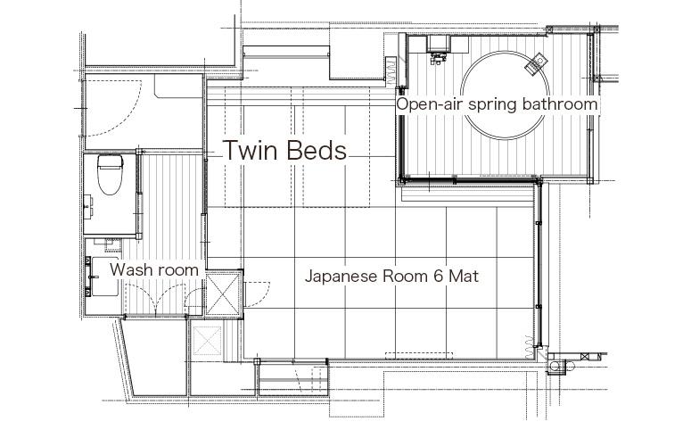 「粋彩42平方米」和洋式套房